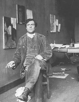 Amedeo Modigliani dans son atelier parisien