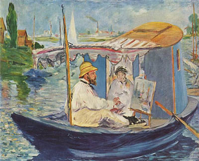 Monet peignant dans son atelier - Edouard Manet