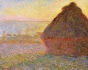 Meules, soleil couchant - Claude Monet