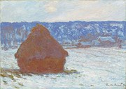 Meules, effet de neige, temps couvert - Claude Monet