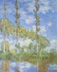 Les peupliers, sous le soleil - Claude Monet
