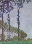 Les peupliers, dans le vent - Claude Monet