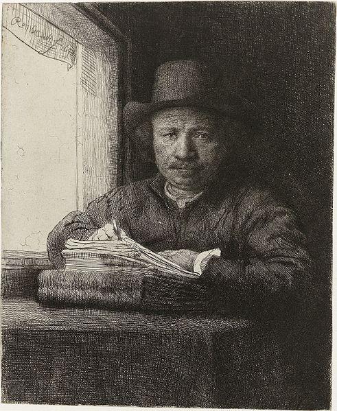 Rembrandt - Autoportrait