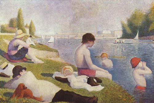 Une baignade à Asnières - Georges Seurat
