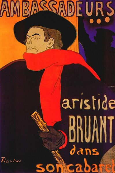 Henri de Toulouse-Lautrec - Aristide Bruant dans son cabaret